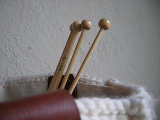 竹製玉付2本棒針 7mm.・8mm